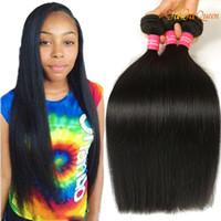 9A Brésilien Droits Head Hair Weave 3 Bundles Virgin Hair Gagaqueen Extensions de cheveux humains brésiliens