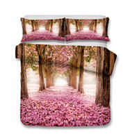 Beautiful Pink Flowers Bedding Set 3pcs Duvet Covers Pillow ...