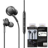 Per Samsung Galaxy S8 auricolare in-ear Headset Wired Suono stereo Earbuds Controllo di volume per S6 più S7 Nota 8 con Package
