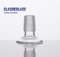 Soporte de adaptador de vidrio para cubos de pieza de bóveda Tubería de agua Bongs Adaptadores 14mm 18mm Hombre Mujer Frosted Joint Dropdown