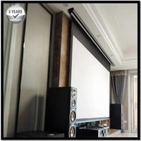 TENEZ PREMIUM TAND-TENSION, 16: 9, 4K / 3D Écran de projection à projection motorisée électrique, projecteur avant PVC gris mat