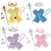 Princess Hair Accessories Crown+ Magic Stick+ necklace+ gloves+...