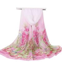 Новая весна и лето новый шарф шифон небольшое полотенце солнцезащитный крем элегантный шарф женщины шарф 160 * 50 см пион цветочный узор 8 цветов