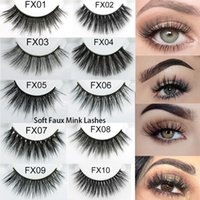 Faux Mink Hair 3D False Eyelashes Soft Handmade Long Full St...