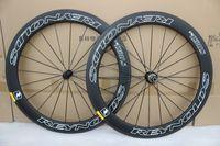 اختيار 7387 عجلات المحاور الفاصلة 60mm الكربون 700C الدراجة الطريق دراجة الكربون كامل العجلات