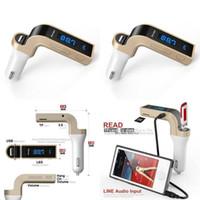 G7 Автомобильный беспроводной Bluetooth MP3 FM-передатчик L Дизайн Модулятор 2.1A Автомобильное зарядное устройство Беспроводной комплект Поддержка громкой связи Micro GGA68