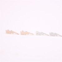 Trendy karikatür grafik tasarım saplama küpe erkekler ve kadınlar için uygun çinko alaşım malzeme üç renk isteğe bağlı