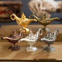 Nuovo arriva Fiaba Aladino Magic Lamp Vintage Censer metallo creativo Aroma Burner Multi Color bruciatore di incenso