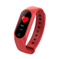 ساعة ذكية سوار M3 لون الصمام الاساور الرياضية ضغط الدم القلب معدل بلوتوث ل ios الروبوت smartband