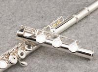 SUZUKI 17 Delik Açık Flüt Marka Müzik aletleri C Ton Yüksek Kaliteli Cupronickel Gümüş Kaplama Flüt Ile E anahtar, vaka
