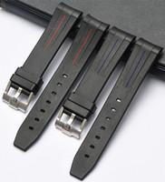 EACHE New Silikon-Gummi-Uhrenarmband Uhrenarmbänder Wasserdicht Armband 20mm 21mm