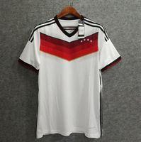 db2ff8d84d Clássico 2014 retro GermANY camisas de futebol Allemagn casa Schweinsteiger  7 KLOSE 11 OZIL 8 MULLER