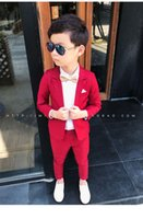 Wedding Boy Dress blazer pant Child Suit Color red and black...