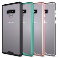 For Samsung Note 9 Case Clear Soft TPU Hard PC Back Cover Ph...