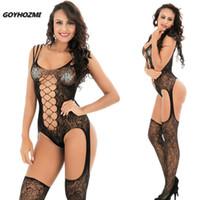 GOYHOZMI yeni stil sexy lingerie kadın siyah Vücut Suit sıcak seksi kostümleri teddy seksi iç çamaşırı tam bodystockings lenceria hortum S1012