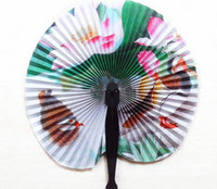 Newly Vintage Flower Printing Paper Fan Wedding Decoration P...