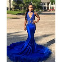 2018 Sexy Prom Dresses for African Black Girl Lace Appliques...