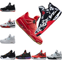 Tattoo Singles Day 4 4s Mens Basketball Shoes Raptors Pure M...