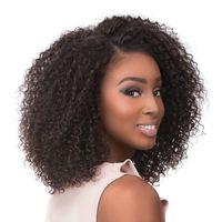 Bob Bob Afro Kinky Curly Peruano Humano Cabelo Completo Lace Perucas Bebê Hairs Preenchido Natural Steide Lace Front Wig Wig Branqueado Nós