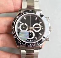 Vente chaude Mens Montre Tona M116519 Dial simple Sapphire Cystal Ceramic Bezel Hommes Montres Montres mécaniques automatiques en acier inoxydable Montre-bracelet