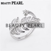 5 Pieces Luxury Design Big Leaves Ring Settings 925 Sterling...