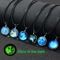 Luminous Glow in the dark Galaxy Universe Necklace Star Moon...