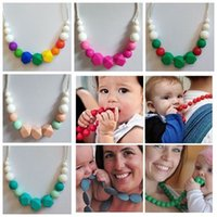 2018 silicone chew jewelry kids fashion beaded necklace wome...