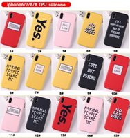 Soft TPU PC Creative English Words Painted Phone Case Shell ...