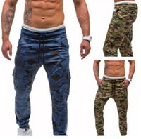 New European American Fashion Mens Casual Pants Camouflage  ...