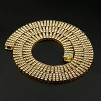 Catena graduata di tennis ghiacciata a 4 collane Sumptuose argento clastmico / oro color uomo gioielli di moda NN06 hip hop bling