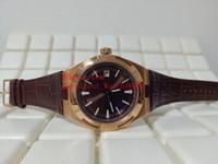 Горячие продажи модные часы 41 мм зарубежные AUTO 4500V 4500V / 000R-B127 18K розовое золото дата Азия автоматический механический кожаный ремешок мужские часы W