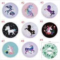 New Microfiber Printed Tassels Circular Unicorn Beach Towel ...