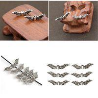 Gioielli Per angelo gioielli Ali leggiadramente che fa il mestiere d'argento antichi di fascino di tono Spacer Beads