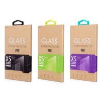 吊り下げ式ガラス普遍的なクラフトプロテクターフィルムの小売包装箱のための新しいデザインの包装ハングフック付きの新しいデザイン包装