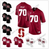 35ad8f16d Stanford Cardinal  7 John Elway 70 Andrus Peat 82 Coby Fleener 51 Joshua  Garnett Black Red White Stitched College Football NCAA Jersey S-3XL