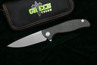 녹색 가시은 95 플리퍼 접이식 칼 D2 스틸 베어링 티타늄 CF 3D 핸들 캠핑 사냥 야외 과일 칼 EDC 도구를 hati