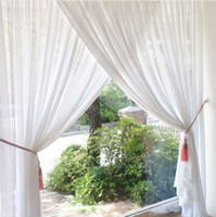 Günstige Weiche Pure White Tüll Vorhänge für Wohnzimmer Sheer Vorhang für Schlafzimmer Fenster Behandlungen Sheer Küche Stoff Garne