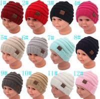 New fashion 12 color Baby Autumn and winter Hats CC Trendy B...