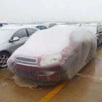 disposable plastic car Auto cover with elastic band- dust co...