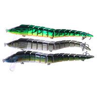 Venta al por mayor 100 piezas Multi-sección de cebos de pesca 9.05 / 1.62OZ cinta Pesca en el mar señuelo articulado con 3 anzuelos triples Big Game señuelos de pesca