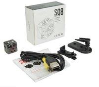 Kaliteli HD 1080 P Kızılötesi Gece Görüş ile SQ8 Mini Kamera Video Kaydedici Hareket Algılama Kapalı / Açık Spor taşınabilir Kamera