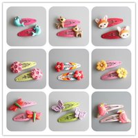 2 PCS Creative Dragonfly Sea Lion Parrot BB Clips Girls Hair...