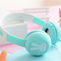 Cute Rabbit Headband Stereo Headphones w  Microphone Portabl...