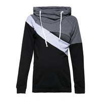 Long Sleeve Nursing Maternity Hoodies Sweater Zipper Breastf...