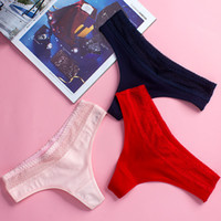 Ladies Cotton Panties Low- Rise Women Sexy Thongs Seamless Br...