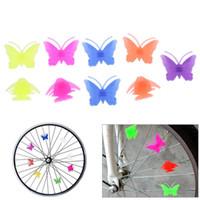Nouveau Vélo Cyclisme En Plastique Coloré Multi-couleur Vélo Vélo Vélo Attrayant Roue Parlé Étoiles Perles Décoration Décor