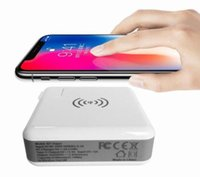 Power Bank 6700mAh QI Wireless Charger Wall Charger US EU UK AU Plug 5V / 3A 15W Портативный супер адаптер для iPhone X Samsung S9 Plus горячая продажа.
