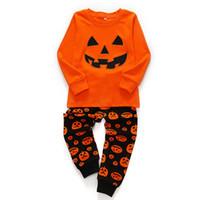 Baby Girls Boys Movers Halloween Костюм одежды Малыша тыква Pajamas костюм тыква Детская мебельная одежда