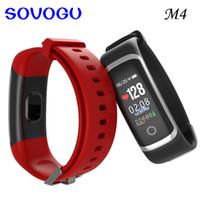 SOVO M4 Smart Bracelet Moniteur de Fréquence Cardiaque Bracelet Étanche Smart Band Pour ios Android Bracelet PK ID115 S2
