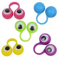 Дети Новинка Игрушки Многоцветный Глаз Куклы Пластиковые Кольца С Wiggle Eyes Горячей Продажи партии Палец Игрушка